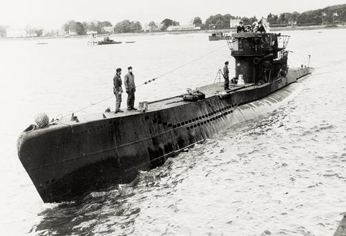 One of eight U-boats that arrived in Londonderry after the German surrender in 1945