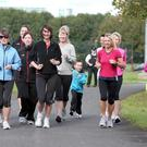Runners take part in the training day at Ormeau Park