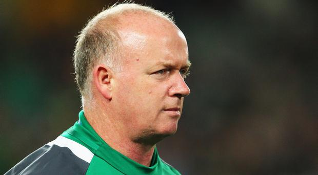 AUCKLAND, NEW ZEALAND - SEPTEMBER 17: Declan Kidney, coach of Ireland looks on during the IRB 2011 Rugby World Cup Pool C match between Australia and Ireland at Eden Park on September 17, 2011 in Auckland, New Zealand. (Photo by Cameron Spencer/Getty Images)