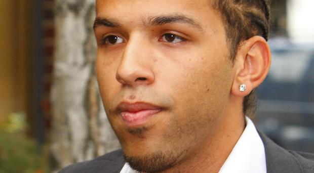 Yuri Santos, 22, who uses the stage name, Aggro Santos, outside Chichester Magistrate's court