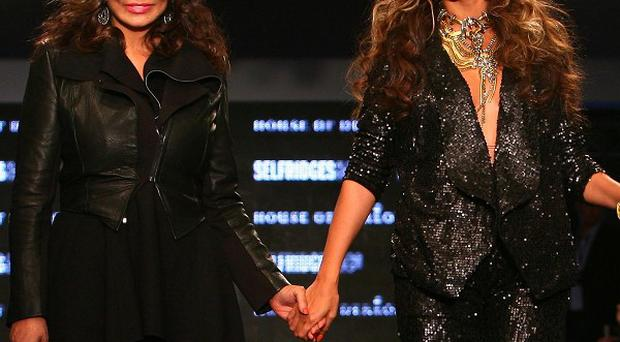 Beyonce Knowles hit the catwalk with mum Tina