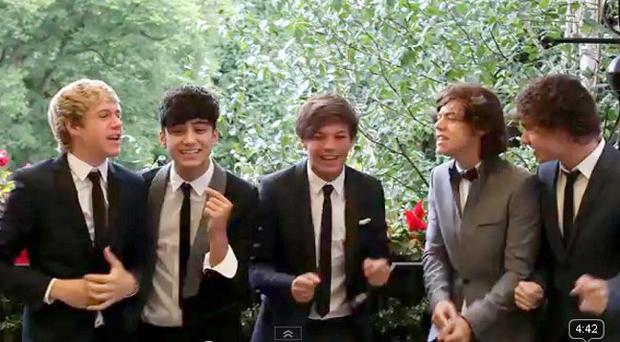 One Direction bring their own brand of entertainment to a wedding in Carlingford, Co Louth, Ireland