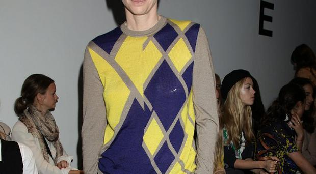 Tilda Swinton was among the stars in the front row at Pringle's London Fashion Week show