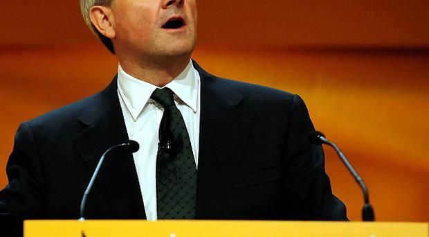 Secretary of State for Energy and Climate Change Chris Huhne addresses the Liberal Democrat Annual Conference