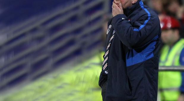 Rangers manager Ally McCoist during the Scottish Communities League Cup, Third Round match at Falkirk Stadium, Falkirk
