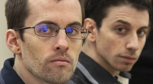 US hikers Shane Bauer, left, and Josh Fattal have been freed following a freedom-for-bail deal (AP/Press TV)