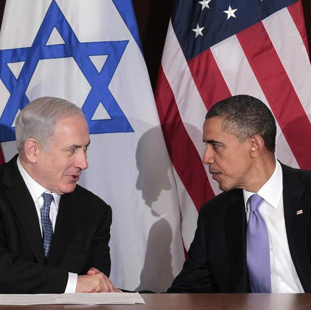President Barack Obama shakes hands with Israeli Prime Minister Benjamin Netanyahu (AP Photo/Pablo Martinez Monsivais)