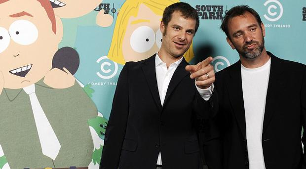 Matt Stone and Trey Parker were celebrating the 15th anniversary of South Park