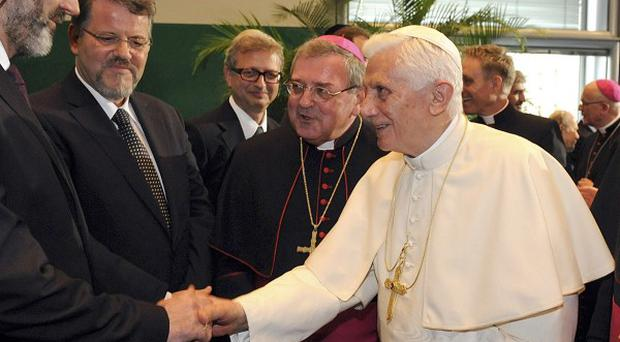 Pope Benedict XVI meets with representatives of the Central Council of Jews in Germany (AP)