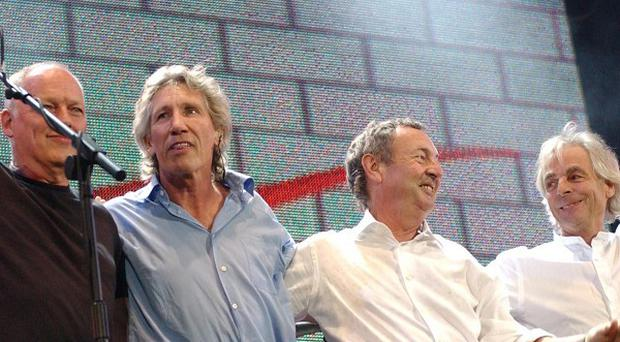 Dave Gilmour (from left), Roger Waters, Nick Mason and Rick Wright of Pink Floyd