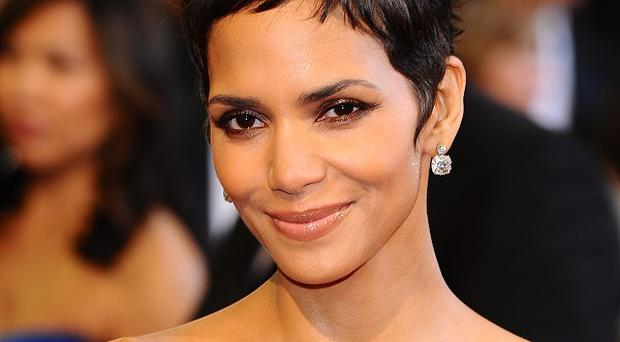 Halle Berry broke her foot during a break from filming