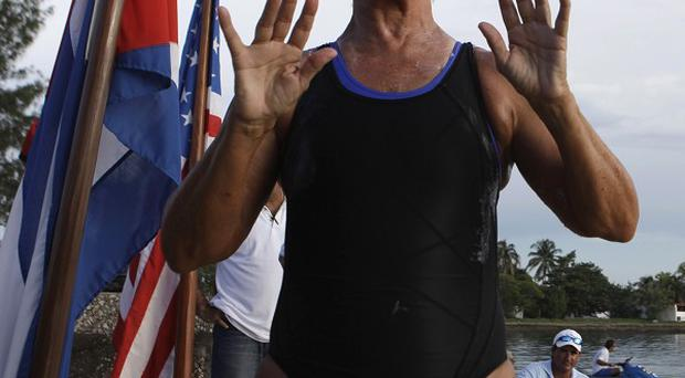 Diana Nyad has started a second attempt to swim from Cuba to Florida