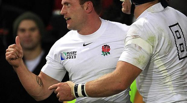 Mark Cueto (left) and James Haskell