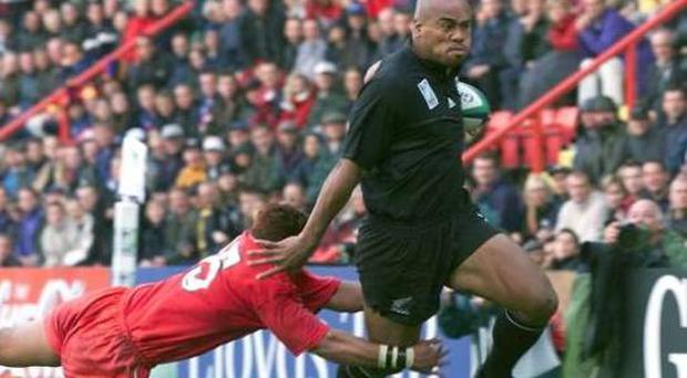 <b>Jonah Lomu</b> One of the All Blacks greatest players was also one of the sports most intimidating. Standing at 6ft 5in, Lomu would dwarf his opponents and the ones that dared tackle him would be swatted away like flies.