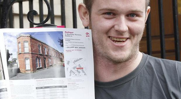 David Glennan used his compensation payout from a motorbike crash to snap up a block of flats (Robbie Reynolds/CPR/PA)