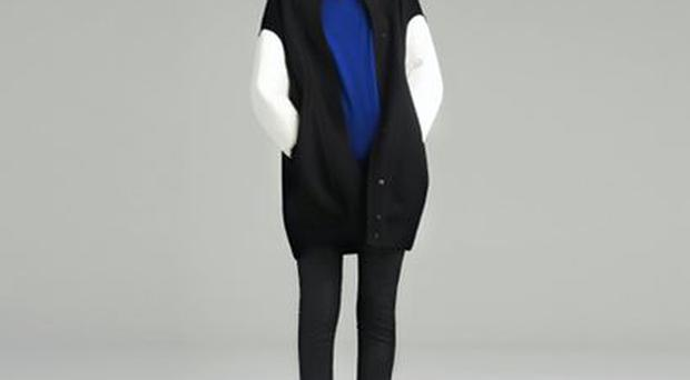 Zara is also always on trend but never slavishly so. Pictured - contrast sleeve bomber £119. www.zara.com