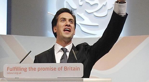 Leader Ed Miliband delivers his keynote speech to delegates at the Labour Party conference