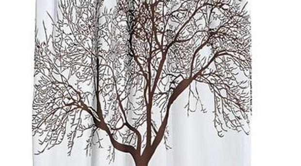 <b>1. Tree</b><br/> Bring a little of the outside into your bathroom, with this tree-silhouette curtain which is made from wipe-clean polyester and has reinforced eyelets to prevent it sagging with use. <br/> <b>£25, urbanoutfitters.co.uk </b>