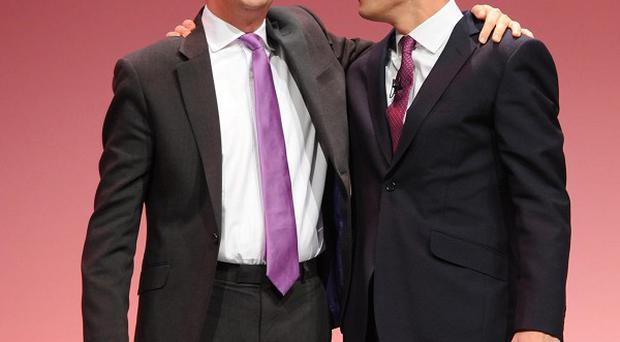 Ed Miliband, left, insisted his brother David had been 'incredibly supportive'