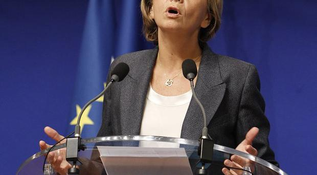 French budget minister Valerie Pecresse presents the nation's 2012 budget, at a press conference held in Paris (AP)