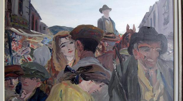 A Fair Day, Mayo, by Jack B Yeats has sold for one million euro