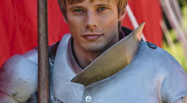 Bradley James says taking his armour off is a relief
