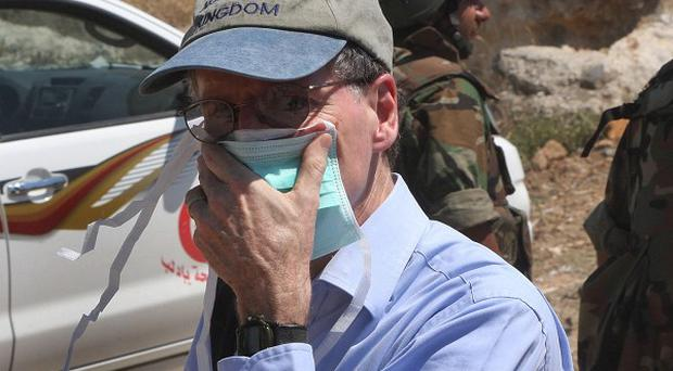 US ambassador to Syria Robert Ford was attacked while meeting opposition leaders