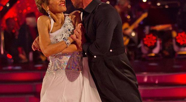 Anita Dobson and Robin Windsor dance the waltz to Three Times a Lady by The Commodores