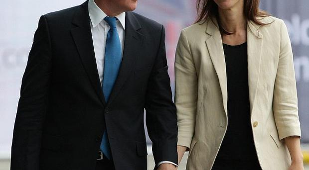 Prime Minister David Cameron and his wife Samantha are in Manchester for the start of the Conservative Party conference