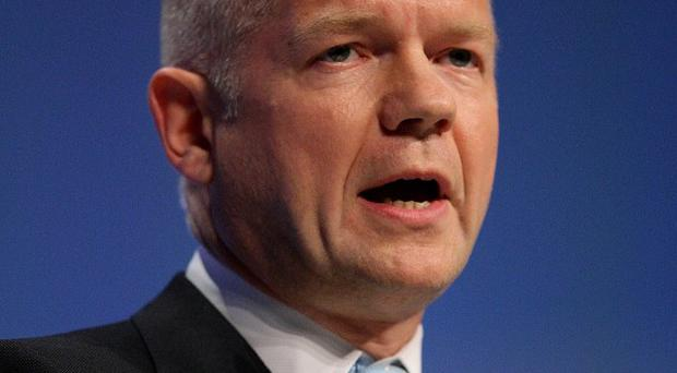 Foreign Secretary William Hague delivers his keynote speech to Tory delegates