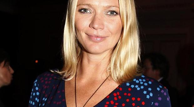 Jodie Kidd showed off her newborn baby son Indio for the first time
