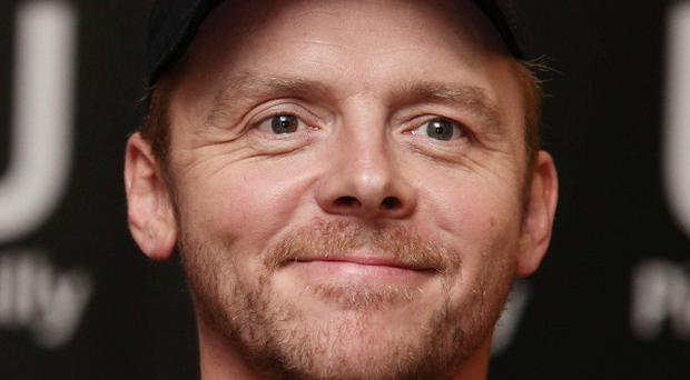 Simon Pegg was voted the top celeb choice for a boys' night out