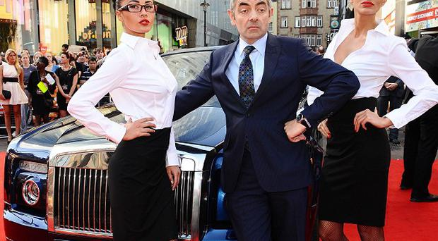 Rowan Atkinson arrives at the premiere of new film Johnny English Reborn at the Empire cinema in London