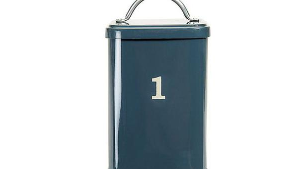 <b>1. GRAHAM AND GREEN BOX:</b><br/> Looking for a retro-style home for your flour and rice? Well, look no further than this 1950s-look box in midnight blue from Graham and Green, which bears a slight resemblance to Doctor Who's Tardis.<b> £30, grahamandgreen.co.uk</b>
