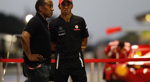Lewis Hamilton has the support of his father Anthony