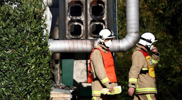 Firefighters tackled a major blaze at the Hobbs Industrial Estate in Newchapel, Surrey