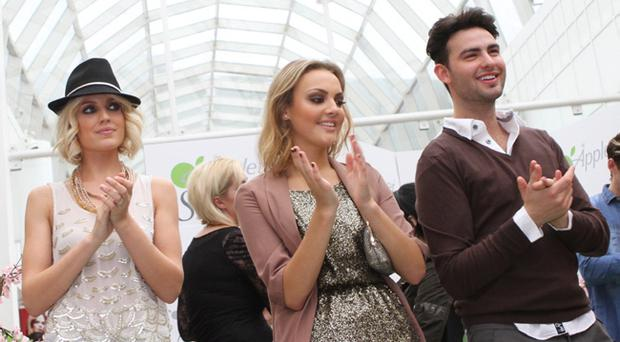 Leggy Lovelies Jude Nabney, Emma Martin and Sean Paul Gilbride spotted in CastleCourt shopping centre on Saturday 1st October at the Appletiser StyleFIX catwalk show