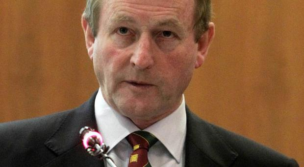 Enda Kenny said he would only focus on the Fine Gael presidential candidate