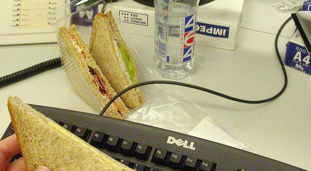Around 48 per cent of workers are happy to cut back on lunch breaks if it means saving a colleague from redundancy, research shows
