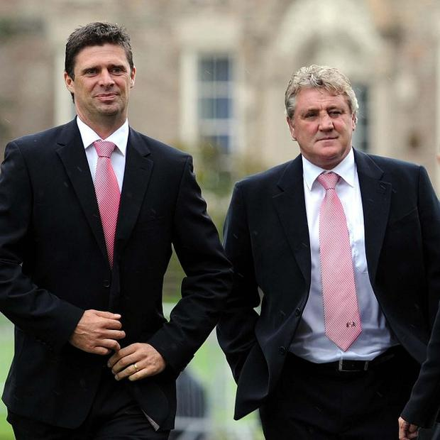 Niall Quinn (left) and Steve Bruce