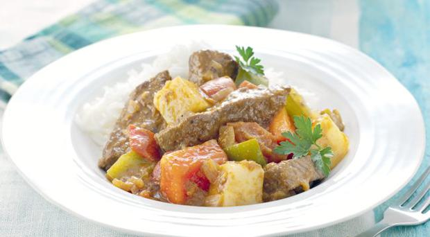 Beef stew with green peppercorns