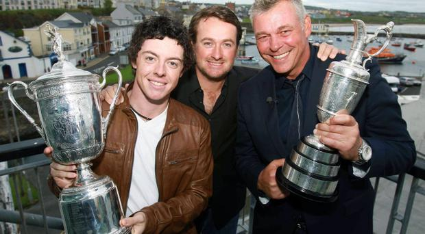 US Open champions Rory McIlroy and Graeme McDowell - last year's Tele Sports Star of the Year - and Open champion Darren Clarke