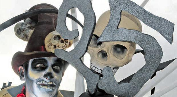 Boris the Voodoo Twin promises a spooky welcome to visitors coming to the Foyle Halloween Carnival