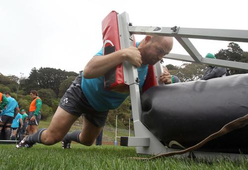 2011 Rugby World Cup, Ireland's Rory Best trains at Rugby League Park, Wellington, New Zealand