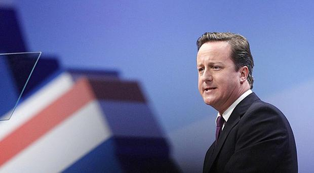 David Cameron vowed to give Britain the leadership it needs to get back on its feet