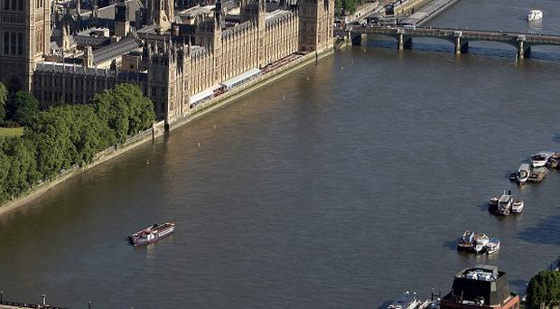 A Thames riverboat has crashed into a pier that is overlooked by some of the capital's top landmarks