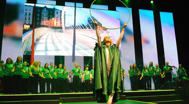 Belfast-based Music Theatre 4 Youth performing at the London O2 Arena this week