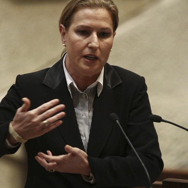 Former Israeli foreign minister Tzipi Livni will meet Foreign Secretary William Hague in Britain (AP)