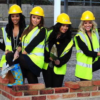 The Saturdays lent a hand to the centre