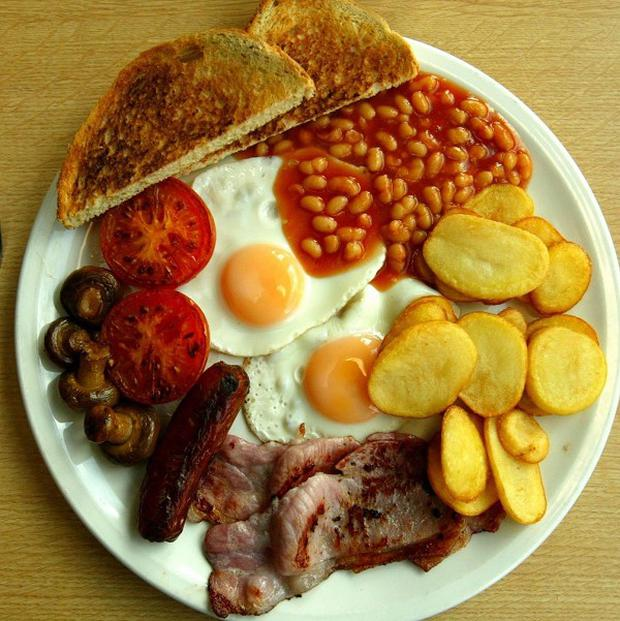 Fans will be polishing off fry-ups to gear up for what will hopefully be a day of partying after Ireland play Wales in the Rugby World Cup